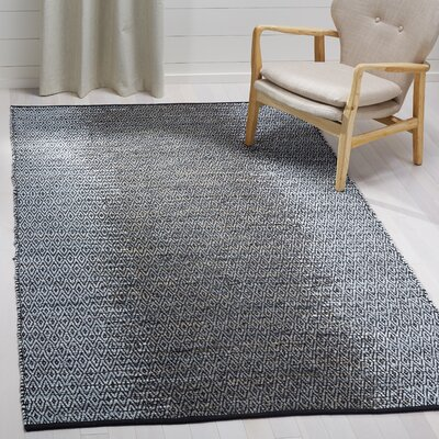Logan Hand-Woven Light Grey/Grey Area Rug Rug Size: Rectangle 5 x 8