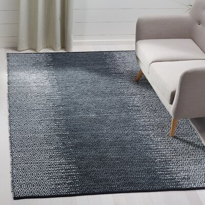 Logan Hand-Woven Light Gray Area Rug Rug Size: Rectangle 5 x 8