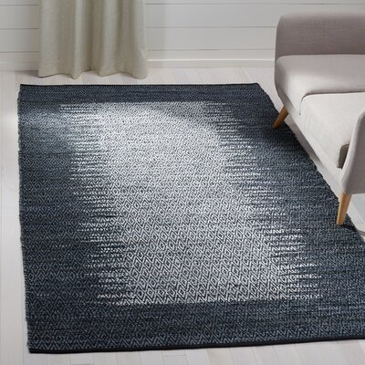Logan Geometric Hand-Woven Light Gray Area Rug Rug Size: Rectangle 5 x 8