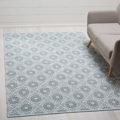Clemence Hand-Woven Light Green/Ivory Area Rug Rug Size: Rectangle 5 x 8