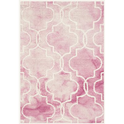 Jawhar Hand-Woven Rose/Ivory Area Rug Rug Size: Rectangle 2 x 3
