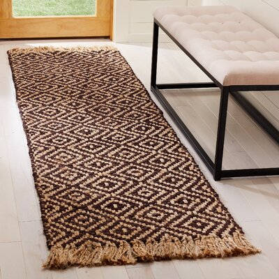 Sherbrooke Natural Fiber Hand Woven Brown Area Rug� Rug Size: Runner 23 x 8