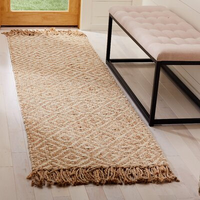 Stokes Natural Fiber Hand Tufted Ivory Area Rug� Rug Size: Runner 23 x 8