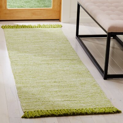 Boevange-sur-Attert Hand Woven Cotton Olive Area Rug Rug Size: Runner 23 x 7