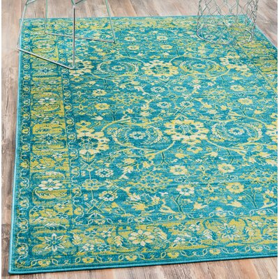 Bolton Turquoise/Green Area Rug Rug Size: Rectangle 4 x 6