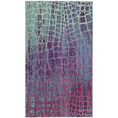 Tilburg Blue/Fuchsia Area Rug Rug Size: Rectangle 3 x 5