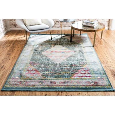 Lonerock Blue Area Rug Rug Size: Rectangle 43 x 6