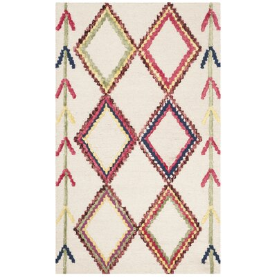 Juney Hand-Tufted Wool Ivory Area Rug Rug Size: Rectangle 3 x 5