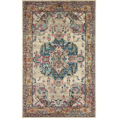 Fujii Beige Area Rug Rug Size: Rectangle 106 x 165