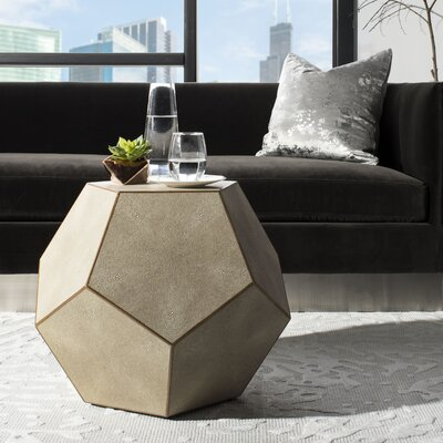 Fay Faux Shagreen End Table