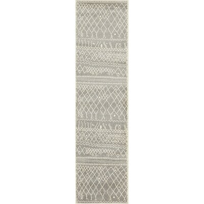 Foxhill Gray Area Rug Rug Size: Runner 27 x 10