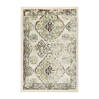 Hargrave Green/Beige Area Rug Rug Size: Rectangle 2 x 3