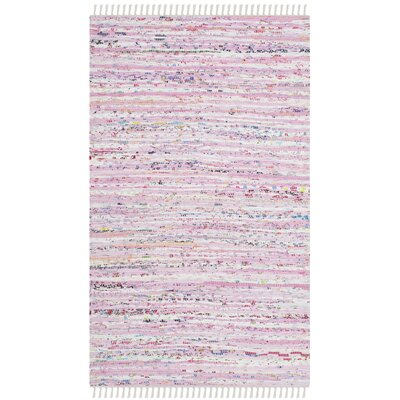 Lansing Hand-Woven Light Pink Area Rug Rug Size: Rectangle 26 x 4