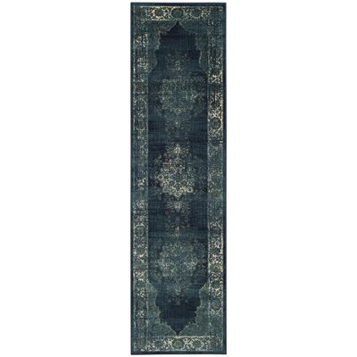 Moores Vintage Navy Area Rug Rug Size: Runner 22 x 8