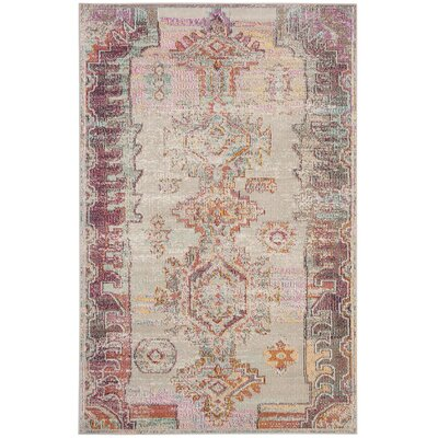 Jasper Light Gray/Purple Area Rug Rug Size: Runner 22 x 11