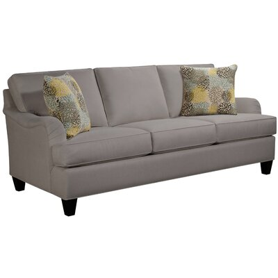 Elsinore Sofa Body Fabric: Hobnob Platinum, Pillow Fabric: Bolt Azure
