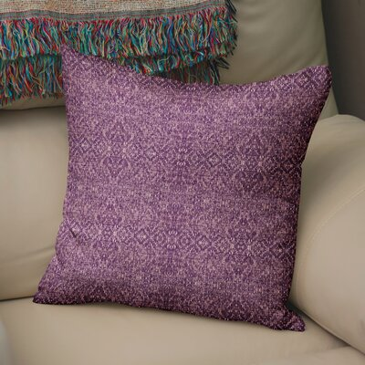 Dezirae Purple Throw Pillow Size: 18 H x 18 W x 6 D