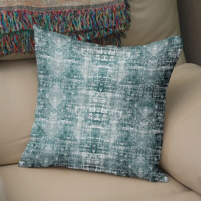 Di Distressed Throw Pillow Size: 18 H x 18 W x 6 D