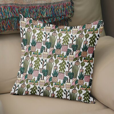 Charlise Plant Throw Pillow Size: 18 H x 18 W