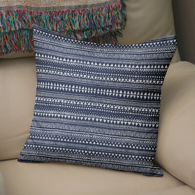 Byrne Throw Pillow Color: Blue/White, Size: 18 H x 18 W