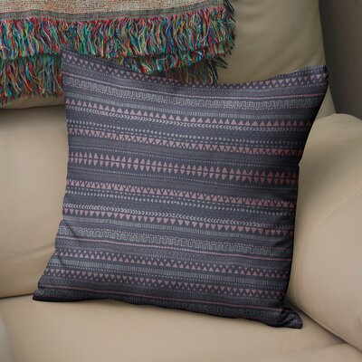 Byrne Throw Pillow Color: Blue/Pink/Purple, Size: 24 H x 24 W
