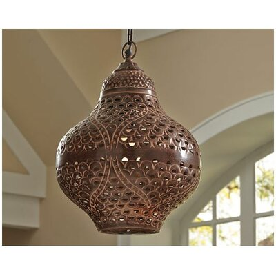 Logan Square Eclectic Metal 1-Light Geometric Pendant