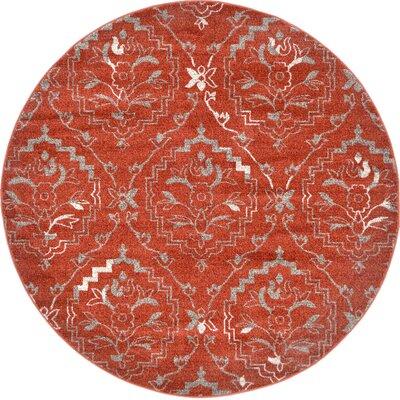 Ezequiel Terracotta Area Rug Rug Size: Round 6