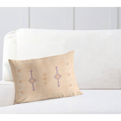 Stellan Rectangular Lumbar Pillow Color: Tan, Size: 18 x 24