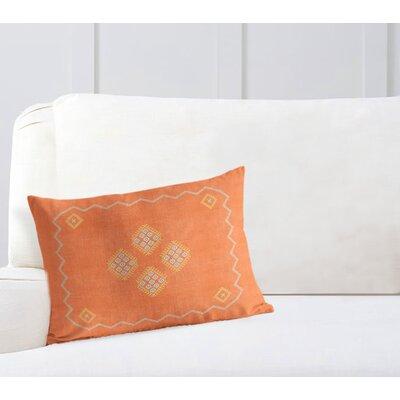Stellan Lumbar Pillow Color: Orange, Size: 12 x 16