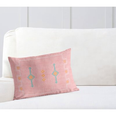 Stellan Rectangular Lumbar Pillow Color: Pink, Size: 12 x 16