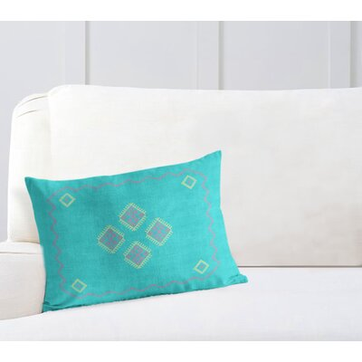 Stellan Lumbar Pillow Color: Aqua, Size: 12 x 16