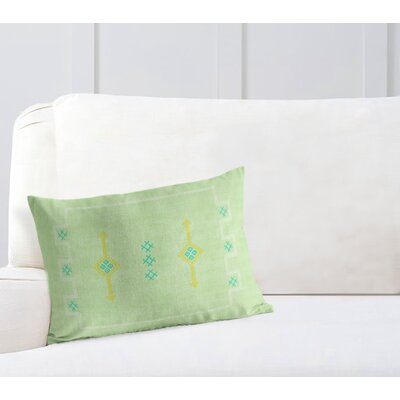 Stellan Rectangular Lumbar Pillow Color: Green, Size: 18 x 24