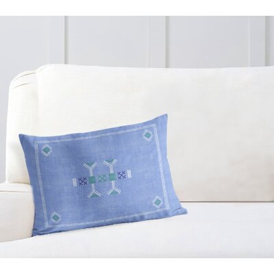 Zoe Lumbar Pillow Color: Blue, Size: 12 x 16