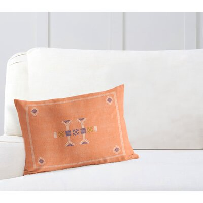 Zoe Lumbar Pillow Color: Orange, Size: 18 x 24