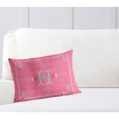 Zoe Lumbar Pillow Color: Pink, Size: 18 x 24