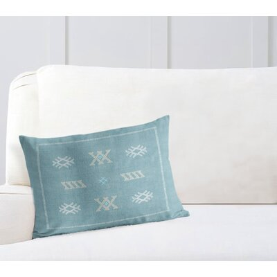 Touete Lumbar Pillow Color: Aqua/ Blue, Size: 18 x 24