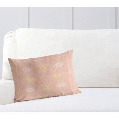 Touete Lumbar Pillow Color: Pink, Size: 12 x 16