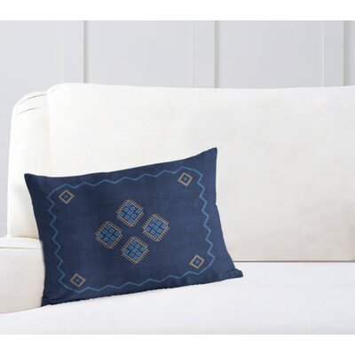 Stellan Lumbar Pillow Color: Blue/ Navy, Size: 12 x 16