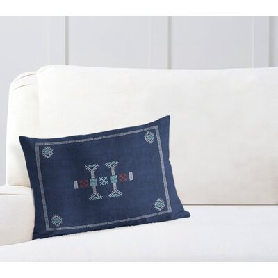 Zoe Lumbar Pillow Color: Blue/ Navy, Size: 12 x 16