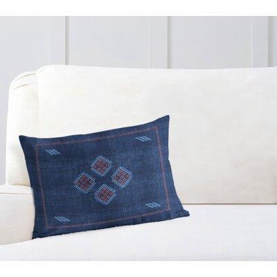 Stellan Kilim Lumbar Pillow Color: Navy/ Red/ Blue, Size: 18 x 24