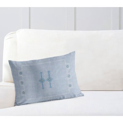 Stellan Silk Lumbar Pillow Color: Blue, Size: 18'' x 24''