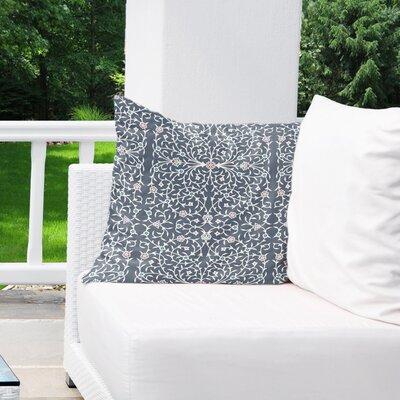 Elizebeth Indoor/Outdoor Euro Pillow Color: Grey/ Ivory