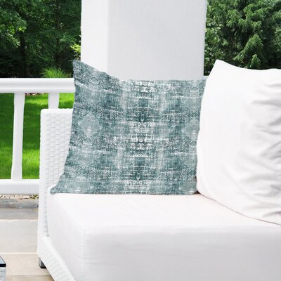 Diahna Distressed Indoor/Outdoor Throw Pillow Size: 18 H x 18 W x 6 D