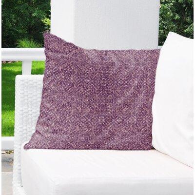 Dezirae Indoor/Outdoor Throw Pillow Size: 18 H x 18 W x 6 D, Color: Purple