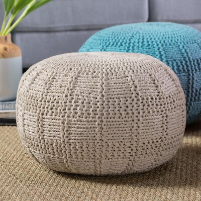 Loma Pouf Upholstery: Ivory