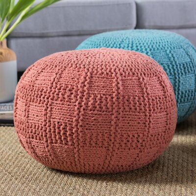 Loma Pouf Upholstery: Coral