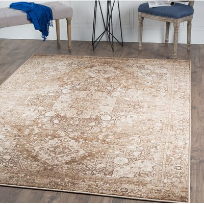 Tariq Mocha Area Rug Rug Size: Rectangle 53 x 73
