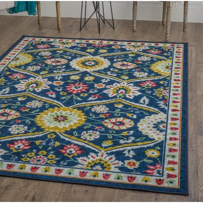 Tariq Gold/White Area Rug Rug Size: Rectangle 710 x 103