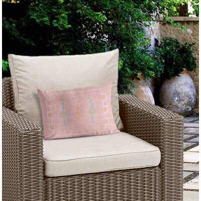 Stellan Outdoor Lumbar Pillow Color: Pink