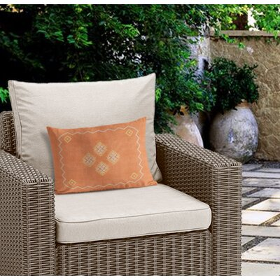 Stellan Double Sided Print Lumbar Pillow Color: Orange, Size: 12 x 16